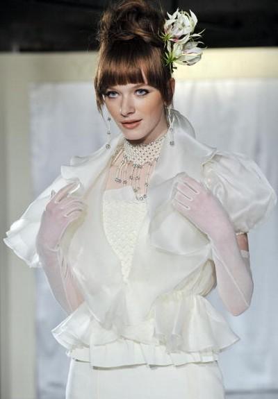 Свадебные платья от янпонского дизайнера Yuma Koshino/Pucchin Dogs via Getty Images