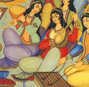 Фреска: музыкальный концерт 17-го века. Фото: Mehdi Hosseini