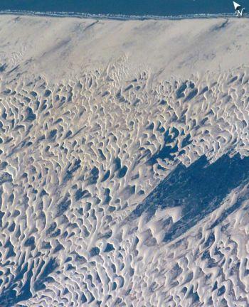 Национальный парк Maranhenses на северном побережье Бразилии. Фото: NASA/JSC