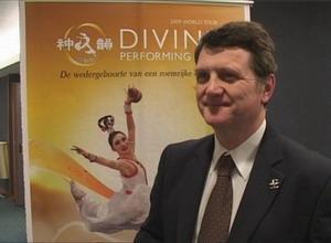 Депутат Европарламента из Англии Герард Баттен на пресс-конференции, посвящённой встрече DPA в Европе. Фото: NTD