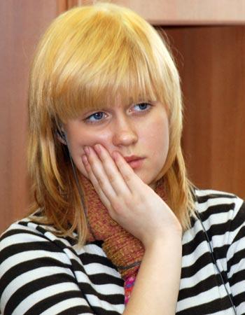 """Софья Витковская, 16 лет, ОРЦ """"Возрождение"""": """"В моей будущей семье хочу согласия. Хочу жить с мужем и не разводиться. Мне кажется, что для ребенка это самое больное, когда папа с мамой разводятся, и нужно выбирать, с кем жить""""."""