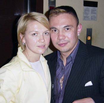 Константин Цзю с супругой. Фото: Николай Зуев