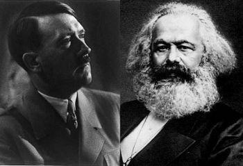 Теории Адольфа Гитлера и Карла Маркса пугающе похожи. (Адольф Гитлер «Книга Конгресса», Карл Маркс «Общественная сфера»)