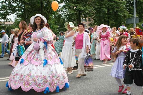 Праздничное шествие, г.Пушкин. Фото: Ирина Оширова/Великая Эпоха