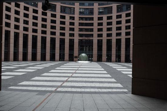 Круглая площадь в башне Европарламента. Фото:Лора ЛАРСИА/Великая Эпоха