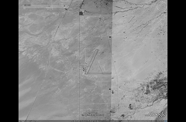 В 1950 году на месте Лас-Вегаса, расположенного в штате Невада, была  пустыня. фото с Googel earth.