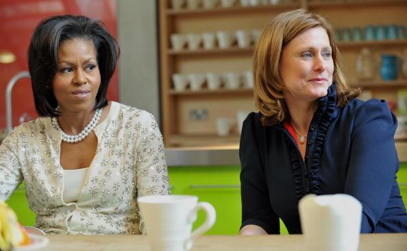 Первая леди США Мишель Обама и Сара Браун. Фото: AFP/Getty Images