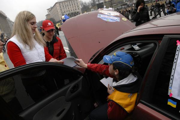 Женское ралли стартовало в Киеве. Фото: Владимир Бородин/Великая Эпоха