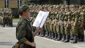 В России стартовала весенняя призывная кампания. Фото: DANIL SEMYONOV/AFP/Getty Images