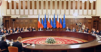 Саммит Россия-ЕС открылся сегодня в Хабаровске. Фото: ALEXANDER NEMENOV/AFP/Getty Images