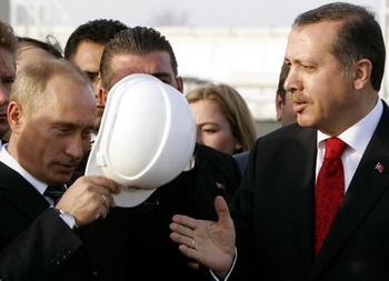 Фото: Владимир Путин и премьер-министр Турции  Реджеп Тайип Эрдоган. KERIM OKTEN/AFP