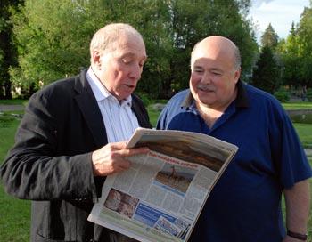 Сергей Юрский (слева) и Александр Калягин (справа). Знакомство с