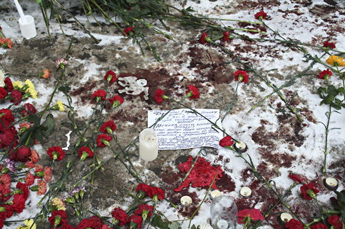 Место гибели адвоката Станислава Маркелова. Фото: Анатолий Белов/Великая Эпоха