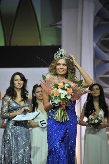 Победительница конкурса «Мисс Москва-2008» Виктория Щукина. Фото предоставлено   пресс-службой информационного агентства InterMedia