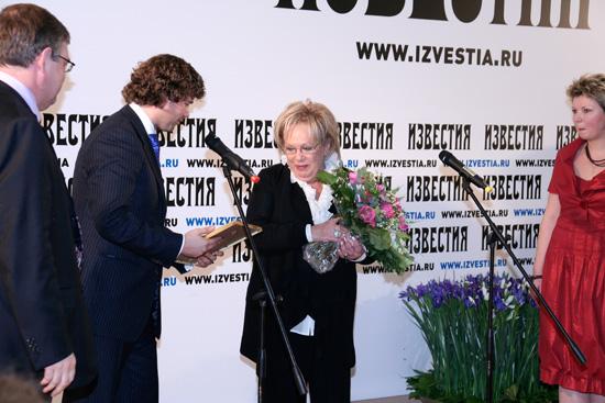 Лауреат премии «Известность -2009». Волчек Галина Борисовна - Художественный руководитель театра