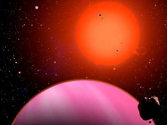 Планета HAT-P-11b глазами художника. Изображение авторов исследования