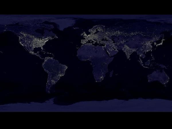 Земля ночью. Фото NASA.