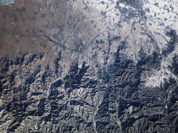 Великая китайская стена. Фото NASA.
