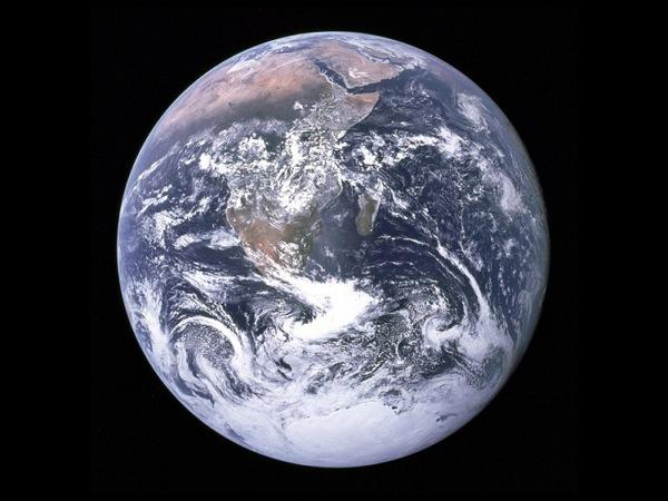 Снимок Антарктиды. Фото NASA.