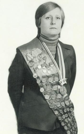 Олимпийская чемпионка по плаванию Галина Прозуменщикова. Фото: Николая Зуева.