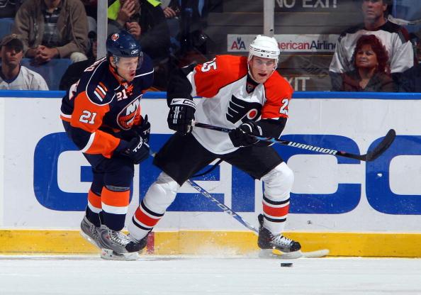 Матч между командами Нью-Йорк Айлендерс и Филадельфия. Фото: Jim McIsaac/Getty Images
