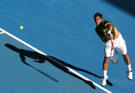 На Открытом чемпионате Австралии по теннису завершились последние матчи 1/8 финала в мужском одиночном разряде. Фото: GREG WOOD/AFP/Getty Images