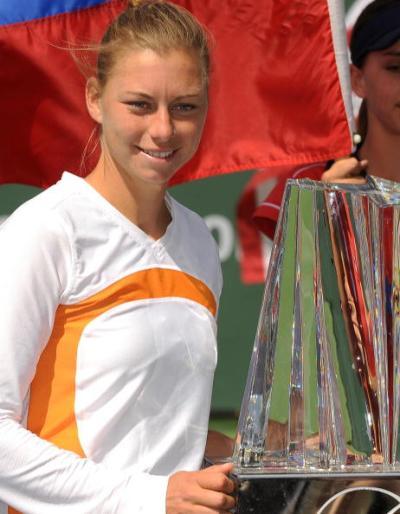 Российская теннисистка Вера Звонарева выиграла турнир WTA в американском Индиан-Уэллсе. Фото: ROBYN BECK /AFP /Getty Images