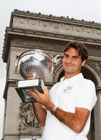 Роджер Федерер, теннисист, выигравший все четыре турнира из серии «Большого шлема». Фото: Ryan Pierse/Getty Images