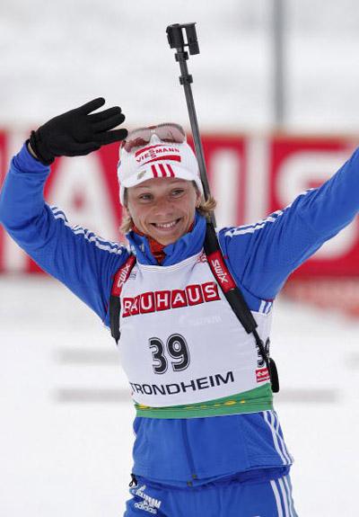 На Кубке мира по биатлону в норвежском Тронхейме. Фото: KALLESTAD GORM/AFP/Getty Images