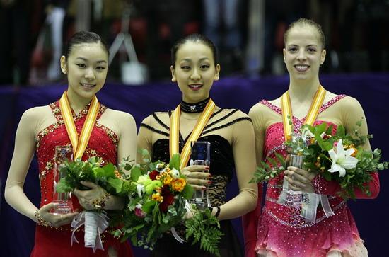 Ю-На Ким (Южная Корея), Мао Асада (Япония), Каролина Костнер (Италия). Фото: Chung Sung-Jun/Getty Images