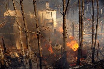 Пожар на юге Франции. Фото: STEPHAN AGOSTINI/AFP/Getty Images