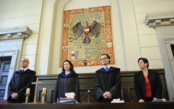 В суде. Фото: Handout /Getty Images