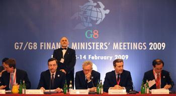 На встрече группы G7. Рим, 2009 г. Фото: TIZIANA FABI /AFP /Getty Images