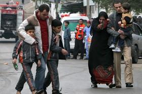 Граждане Газы после одной из бомбардировок ЦАХАЛА. Фото: AFP PHOTOMAHMUD HAMS