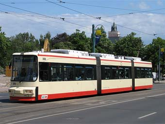 Трамвай во Франкфурте-на-Одере. Фото Ken Wegener с wikipedia.org