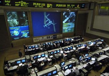 Американское космическое агентство (NASA) запустило видеотрансляцию с камеры, установленной снаружи Международной космической станции (МКС), в режиме реального времени. Фото: Bill Ingalls/NASA via Getty Images
