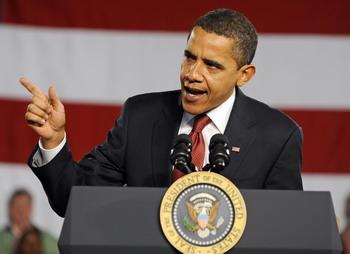 Обама выступает на своей первой пресс-конференции в Белом доме. Фото: Tannen Maury-Pool/Getty Images