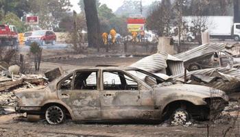 В настоящее время лесные и кустарниковые пожары охватили штаты Виктория, Южная Австралия и Новый Южный Уэльс. Горят лесные массивы, жилые дома, сельскохозяйственные угодья. Фото: WILLIAM WEST/AFP/Getty Images