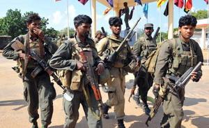 По данным официальных властей Шри-Ланки, правительственные войска учспешно штурмовали последний из населенных пунктов, которые удерживали повстанцы местного радикального движения «Тигры освобождения Тамил-Илама». Фото: LAKRUWAN WANNIARACHCHI/AFP/Getty Images