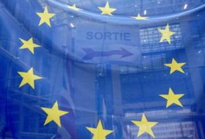 Флаг ЕС в штаб-квартире Европейского Союза в Брюсселе. ЕС объявило 2009 г. годом творчества и инноваций. Фото: Gerard Cerles/AFP/Getty Images