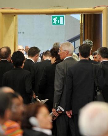 Делегаты десятков стран покинули зал заседаний.Фото:AFP