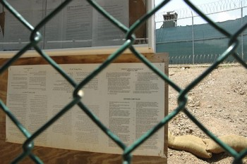 Военно-морская база Гуантанамо США,в Куба. Фото: Randall Mikkelsen-Pool/Getty Images