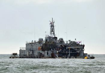 Южнокорейская морская передвижная база в Желтом море. Фото: KIM JAE-HWAN/AFP/Getty Images
