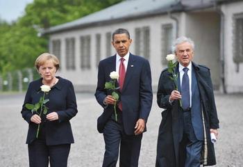 Барак Обама во время визита в Германию 5 июня 2009г. Фото: MANDEL NGAN/AFP/Getty Images