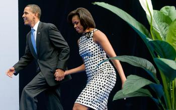 Барак Обама и Мишель Обама. Фото: SAUL LOEB/AFP/Getty Images