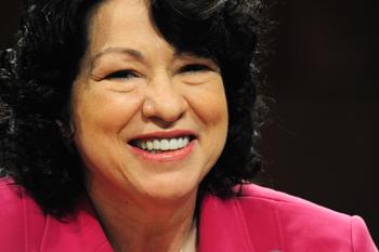 Новый Верховный судья США Соня Сотомайор (Sonia Sotomayor). Фото: KAREN BLEIER/AFP/Getty Images