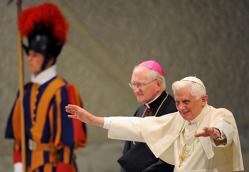 Папа Римский Бенедикт XVI. Фото: VINCENZO PINTO/AFP/Getty Images