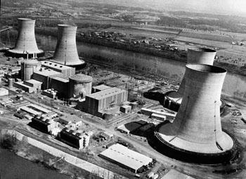 Три Майл Айленд АЭС 28 марта 1979 года. Фото: AFP/Getty Images