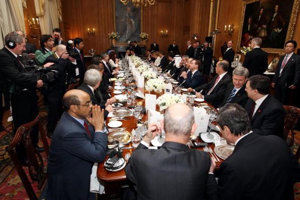 Лидеры стран отужинали на Даунинг-стрит, 10 в преддверии саммита G20. Фото:Getty Images