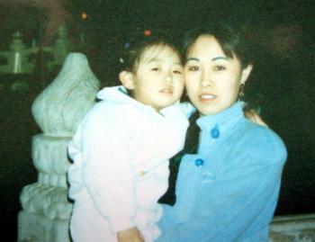 Сунь Минь с дочкой